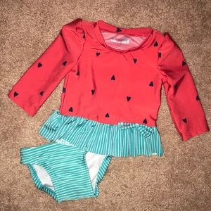 Baby girl watermelon swimsuit